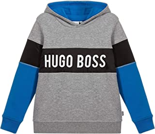 Hugo Boss Sudadera con Capucha con Logotipo de Panel para niños 16 Years Grey