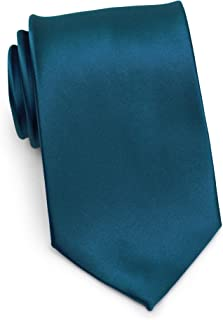 Bows-N-Ties Boy's Necktie Solid Color Microfiber Satin Tie Kids Ages 5-10