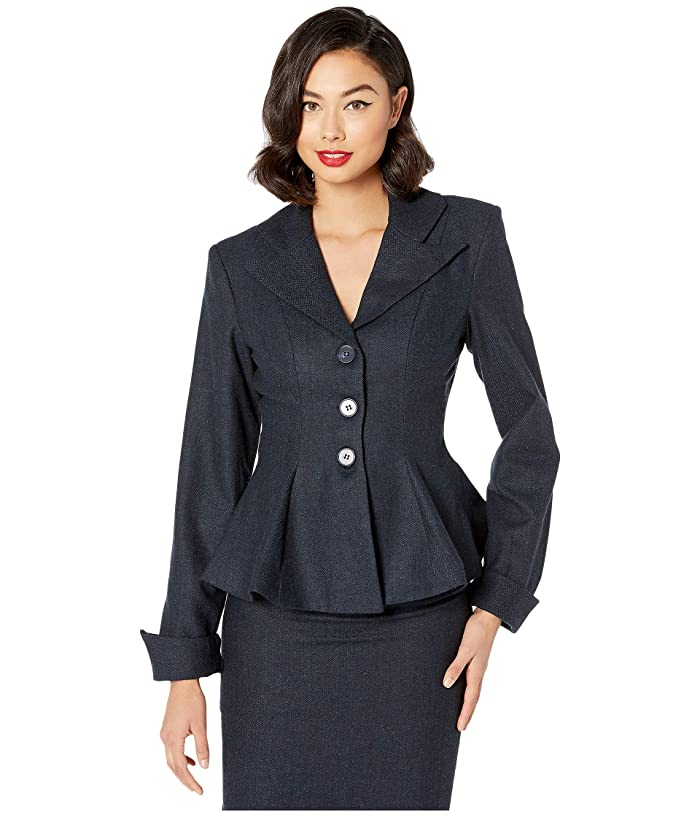 Vintage Coats & Jackets | Retro Coats and Jackets Unique Vintage Rachael Micheline Pitt for Unique Vintage Suit Jacket Navy Womens Clothing $128.00 AT vintagedancer.com