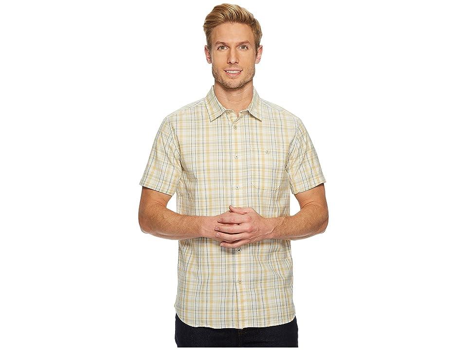The North Face Short Sleeve Baker Shirt (Olivenite Yellow Plaid) Men