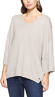CALVIN KLEIN Women's Knits Sophisticated Lounge 3/4 V Neck