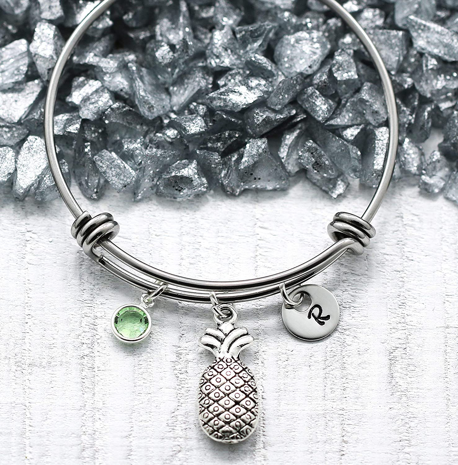 Silver SEAL limited product Elegant Pineapple Theme Charm Bracelet Pinapple Gift - fo Jewelry
