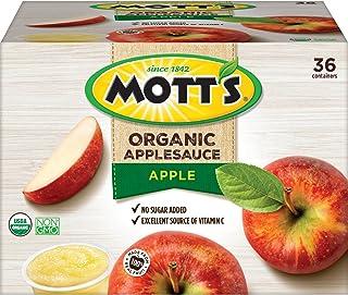 Mott's Organic Applesauce, 3.9 oz cups, 36 count