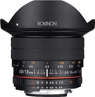 Rokinon 12mm F2.8 Ultra Wide Fisheye Lens for Canon EOS EF DSLR Cameras - Full Frame Compatible