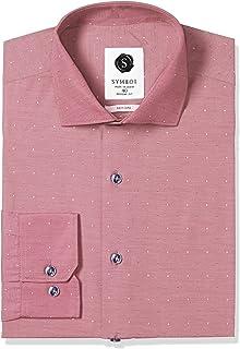 Amazon Brand - Symbol Men's Formal Dobby Regular Fit Shirt