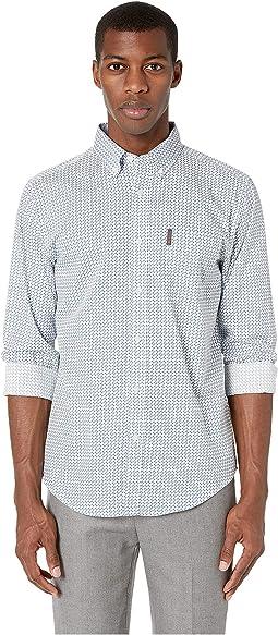Long Sleeve Multi Geo Print Shirt