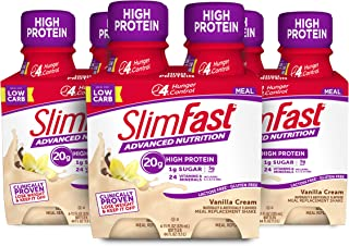 SlimFast Advanced Nutrition Vanilla Cream Shake – Ready To Drink Meal Replacement – 20g of Protein – 11 Fl. Oz. Bottle – 1...