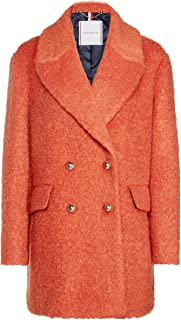 TOMMY HILFIGER Women's Phoebe Bouclé Finish Wool Blend Coat Red (Red Clay Xb6)