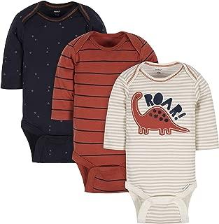 GERBER Baby Boys 3-Pack Long-Sleeve Onesies Bodysuit