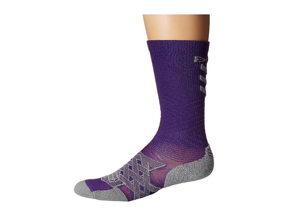 Thorlos Experia Energy Over the Calf Single Pair (Electric Purple) Crew Cut Socks Shoes