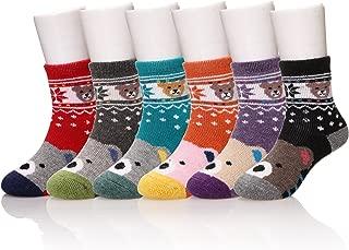 6 Pairs Baby Boy Girl Winter Thick Warm Soft Crew Wool Kids Socks