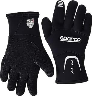 Sparco 00258NR2M Sparco- Kart Gloves, Crw Kart Black Med 0KC18