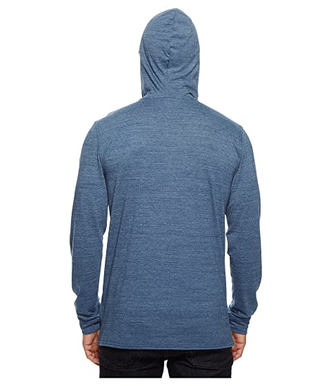 Tri Blend Shady North Hoodie Blue Heather Face The Henley Grey Glacier qtgBw7II