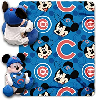 Officially Licensed MLB & Mickey Cobranded Hugger and Fleece Throw Blanket, Soft & Cozy, Washable, 40