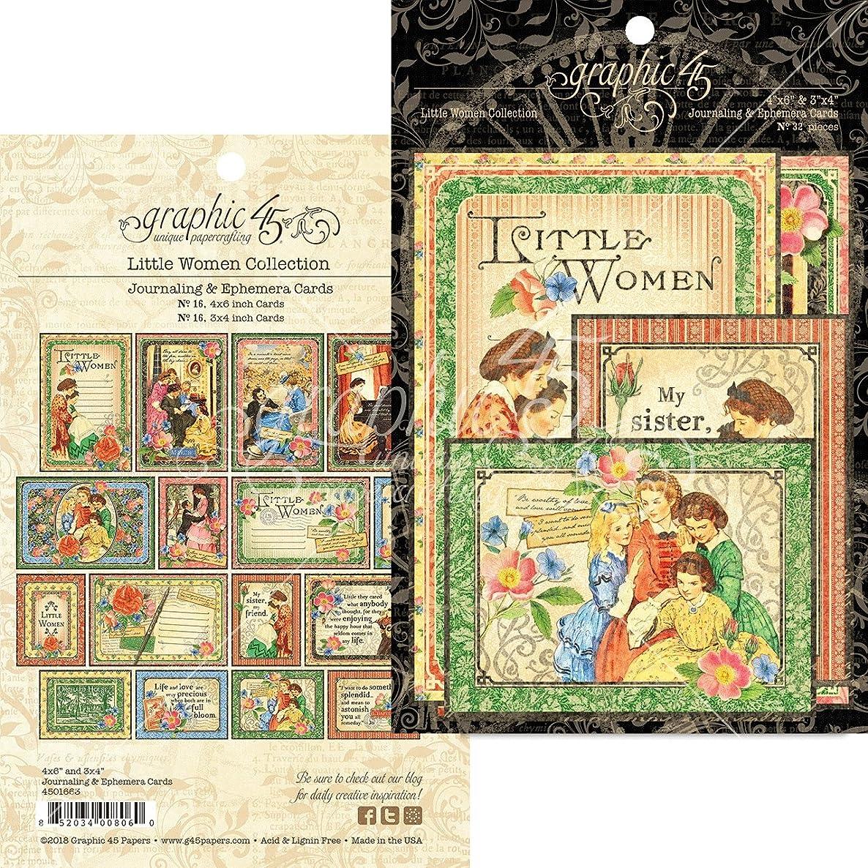 Graphic 45 4501663 Little Women Ephemera Cards