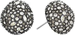 Alexis Bittar - Crystal Encrusted Button Post Earrings