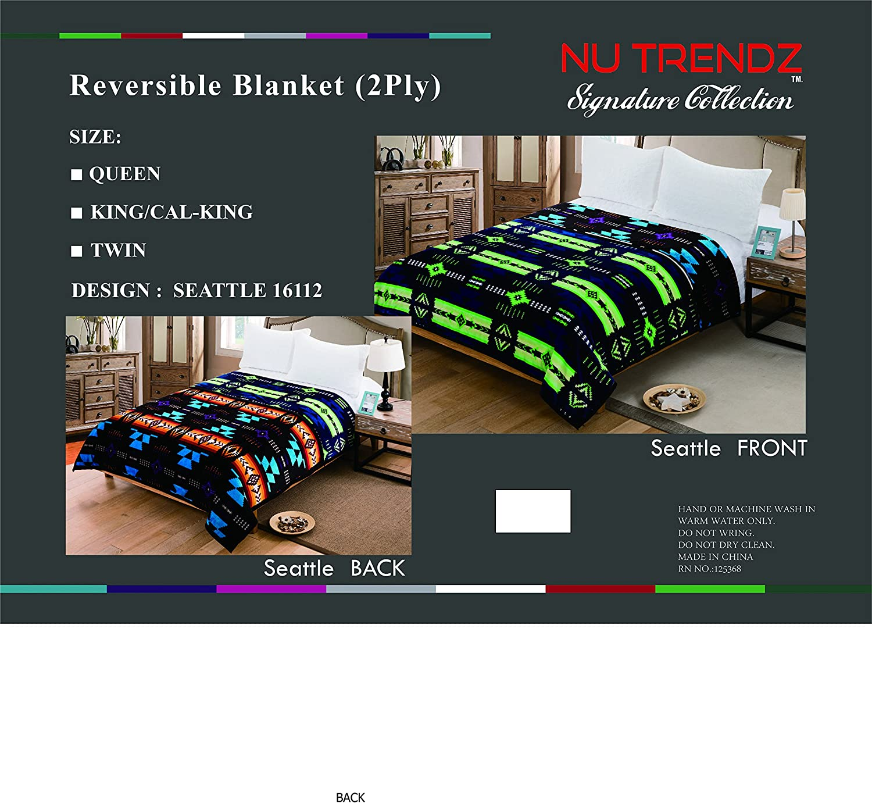 2 PLY Southwest design Blankets 4Ib 6z