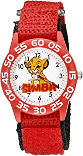 Disney Kids' W002132 The Lion King Analog Display Analog Quartz Red Watch