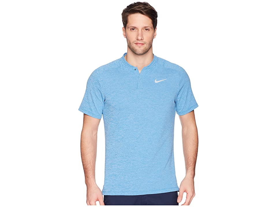 Nike Golf AeroReact Momentum Polo Slim (Blue Nebula/Heather/Green Glow/Flat Silver) Men