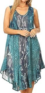 Mita Women's Midi Loose Sleeveless Casual Sundress Tank Dress Cover-up