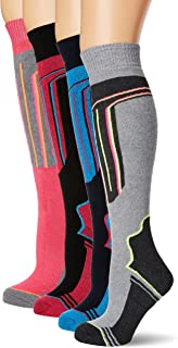 comprar comparacion FM London Thermal Ski Socks Multipack Calcetines altos, Multicolor (Assorted), Talla única (Talla del fabricante: 4-8 UK) ...