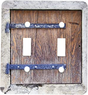 3dRose lsp_157619_2 Wooden Medieval Style Trap Door Photo Print Offbeat Humor Unusual Bizarre Humorous Fun Funny Light Switch Cover