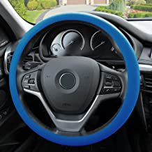 FH Group FH3001DARKBLUE Dark Blue Steering Wheel Cover (Silicone Snake Pattern Massaging grip in Color-Fit Most Car Truck Suv or Van)