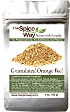 The Spice Way Orange Peel - Granules | 4 oz |without any preservatives. Great for cooking, baking and tea.