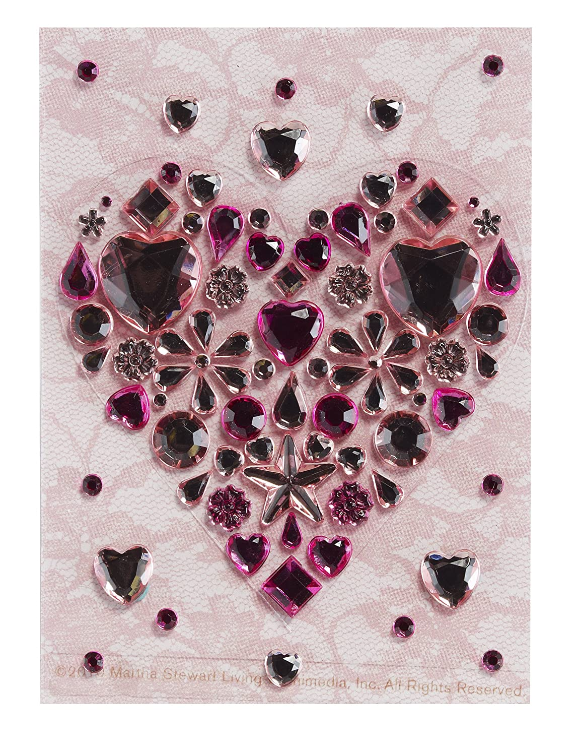 Martha Stewart Crafts Large Heart Gemstone Sticker