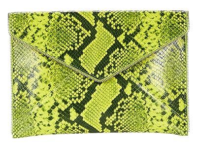 Rebecca Minkoff Leo Clutch (Neon Yellow 1) Clutch Handbags
