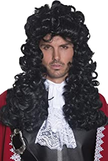 Smiffy's Pirate Captain Wig - Black