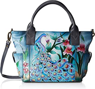Anna by Anuschka womens Anna By Anuschka Hand Painted Leather Women's Large Tote With Side Pocket