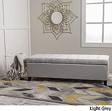Christopher Knight Home Living Santa Rosa Light Grey Fabric Storage Ottoman