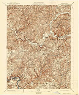 YellowMaps Elders Ridge PA topo map, 1:62500 Scale, 15 X 15 Minute, Historical, 1904, Updated 1938, 19.9 x 16.5 in