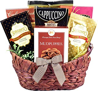 Gift Basket Village Caffe Lovers with Chocolate Cookies, Candy, Mochas and Gourmet, Coffee, 1 Count