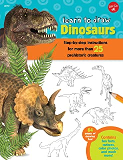 Learn to Draw Dinosaurs: Step-by-step instructions for more than 25 prehistoric creatures-64 pages of drawing fun! Contains fun facts, quizzes, color photos, and much more!
