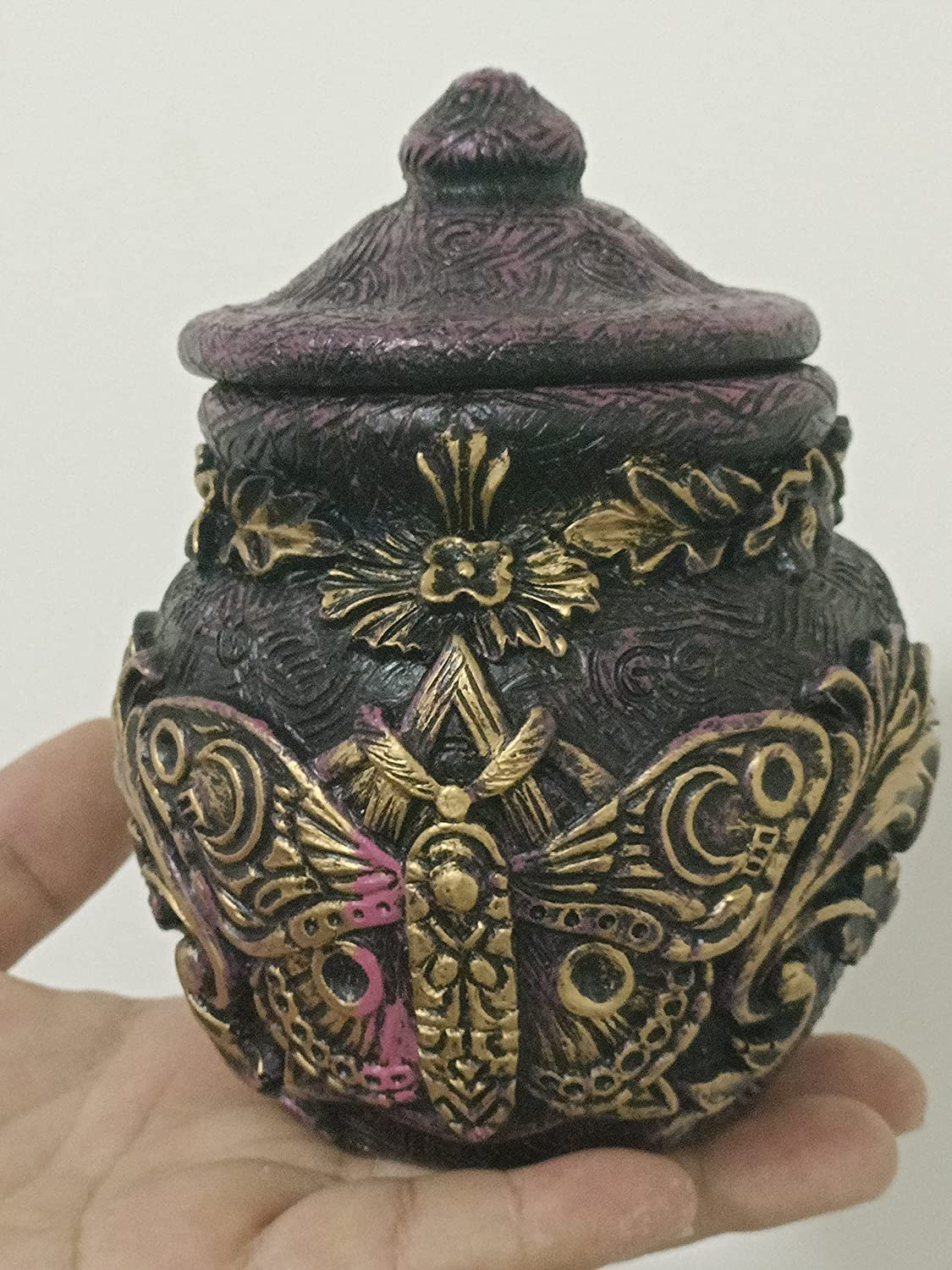 Greenman Popular product Witch Bottle Deathshead Moth Celestial Moon Our shop most popular Apo Decor