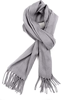 Booker Cashmere Feel Solid Colored Unisex Winter Scarf With Fringe