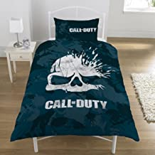 Call of Duty Broken Skull Camo Reversible UK Single / US Twin Duvet Cover with Matching Pillow Case Bedding Set