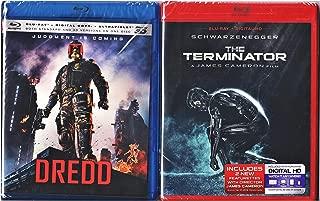 The Terminator + Dredd [Blu-ray 3D - Blu-ray ) Movie Pack Double Feature Sci-Fi Bundle