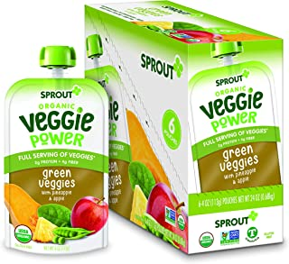 Sprout Organic Stage 4 Toddler Food Power Pak Pouches