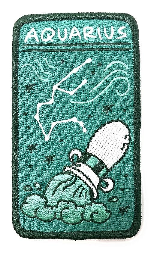 O'Houlihans - Aquarius Zodiac Patch - Iron on Patch - Embroidery Patch - Zodiac Morale Patch