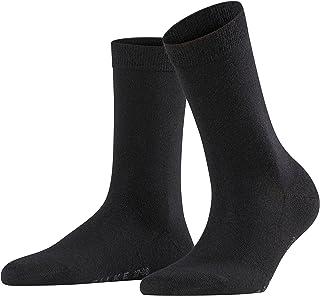 FALKE Socken Softmerino Schurwolle Baumwolle Damen schwarz blau viele weitere Farben verstärkte Damensocken ohne Muster atmungsaktiv warm dick einfarbig für kalte Tage 1 Paar