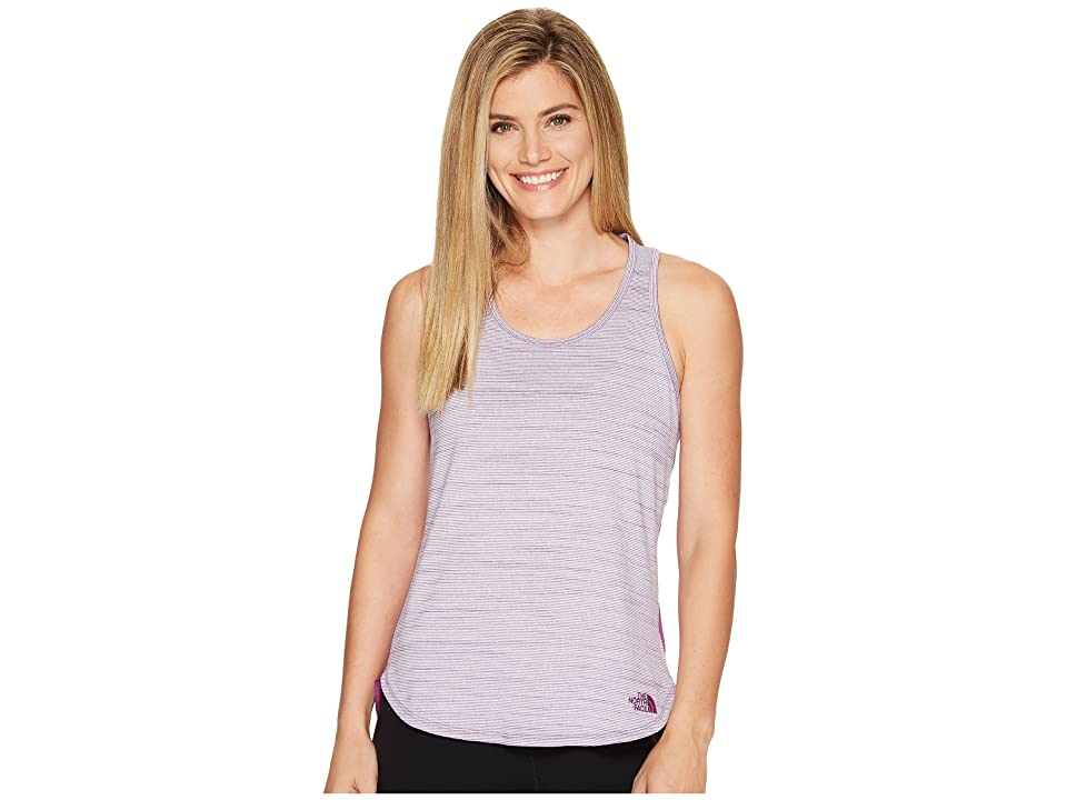 85689d8adbb The North Face Motivation Stripe Tank Top (Wood Violet Heather (Prior Season))  Women s Sleeveless