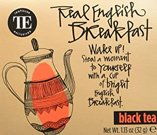 TE - Teahouse Exclusives Everyday Tea Real English Breakfast 16 Beutel, 2er Pack 2 x 32 g