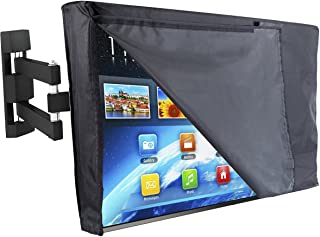 """Outdoor TV Cover 55"""" - NOW WITH FRONT FLAP - The Weatherproof and Dust-proof Material with FREE Microfiber Cloth. Protect Your TV Now!"""