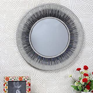 Decorative Wooden Two Tone Mosaic Mirror