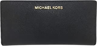 d325f22db085 Michael Kors Jet Set Travel Leather Medium Large Card Case Carryall Wallet  with Removable ID Card