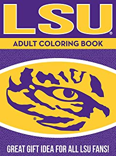 LSU Adult Coloring Book: A Colorful Way to Cheer on Your Team!