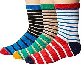 Stripe Crew Socks 3-Pair Pack (Toddler/Little Kid/Big Kid)